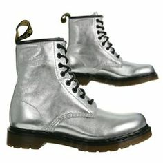 8 eyelet silver boots. Purchased in Portland, Oregon (no sales tax!).