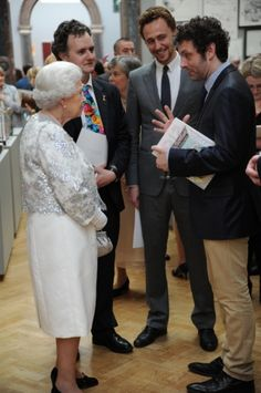 Tom Hiddleston   Queen Elizabeth visits the Royal Academy of Arts (May 23, 2012)