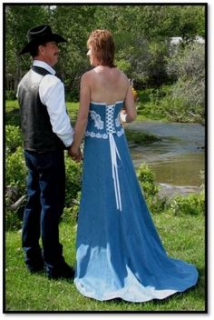 Scarlett Corset & Full Skirt with Train Strapless Dress, Prom Dresses, Formal Dresses, Denim Wedding, Wedding Inspiration, Wedding Ideas, Chambray, Corset, Photo Galleries