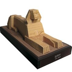 Free to print!  3d papercraft model of the Sphinx.  Great for an Egypt study unit.