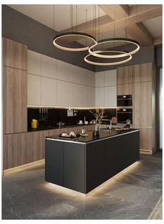 Modern Kitchen Interiors, Luxury Kitchen Design, Kitchen Room Design, Modern Kitchen Cabinets, Home Room Design, Kitchen Cabinet Design, Luxury Kitchens, Home Decor Kitchen, Interior Design Kitchen