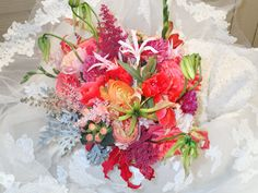 Tropical autumn bliss bouquet