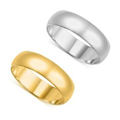 14k Men's Yellow or White Gold Standard Fit 8-millimeter Wedding Band (Yellow Size 6.5)