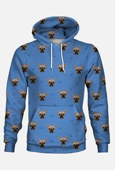 buldog Francuski Bluza Fullprint z twoim zwierzakiem - bluzy fullprint w digi-pet Pet Love Buldog, Hoodies, Sweaters, Fashion, Moda, Sweatshirts, Fashion Styles, Pullover, Sweater