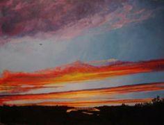 Sunset Acrylic on canvas