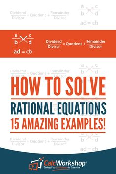 Solving Equations - POWERFUL video lesson on how to solve fractional equations.  With 15 examples, you'll have everything you need to score well in your next quiz or test.  Terrific for new teachers too.  Excellent topic for high school and middle school math courses.  Learn the skills to solve an equation that has variables in the numerator and denominator by multiplying by the LCD and solve by factoring.