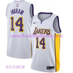 b01c412e289 Los Angeles Lakers NBA Trikot Kinder 2018-19 Brandon Ingram 14# Association Edition  Basketball