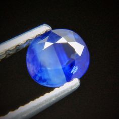 0.97ct Super Shimmering Cornflower Blue Color! 6x5 mm CUS Cut Natural Sapphire
