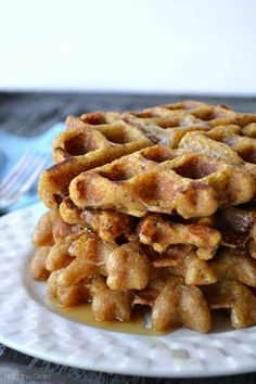 Sweet Plantain Waffles. These are really good! Best eaten right out of the griddle. DDP