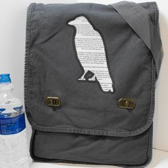 Fancy - Poe's Raven Messenger Bag - Field Style for School, College, Travel, Vacation, Book, Laptop | Flickr - Photo Sharing!