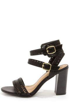 78d5e23f8d7 Bamboo Kendria 03 Black Cutout High Heels at LuLus.com! Trendy Tops