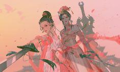 Chinese Artwork, China Art, Art Studies, Pretty Art, Love Art, Art Girl, Art Reference, Art Drawings, Anime Art