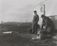 """""""Chris Killip ''Critch' and Sean surveying the landscape, Seacoal Camp, Lynemouth, Northumberland', 1982, printed 2013"""""""