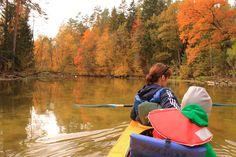 Szlak kajakowy rzeki Krutyni przebiega przez Puszczę Piską, a od jeziora Mokrego także przez Mazurski Park Krajobrazowy.  fot. Mrągowskie Centrum Informacji Turystycznej