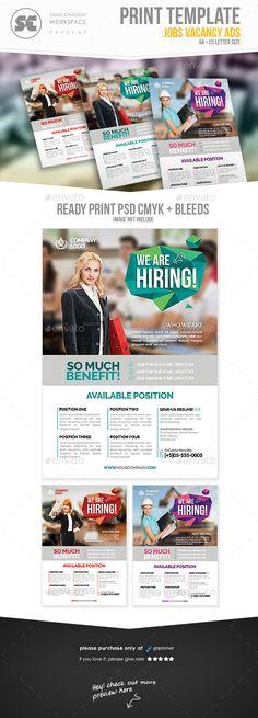Job Hiring Poster Design Template Click To Customize Hiring