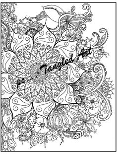 Instant down loadAdult and Children Coloring page by psTangledArt
