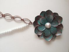 flower  chains and pearls by bizzsjewels on Etsy, $30.00