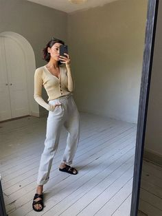I'm a Tired Mom Juggling Childcare and WFH—These Outfit Formulas Are Helping Classic Outfits, Stylish Outfits, Classic Style, Mom Outfits, Summer Outfits, Birkenstock Outfit, Big Dresses, Loungewear Set, Cardigan Outfits