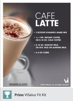 Cafe Latte Body by Vi shake recipe! www.makeithappenwithvi.bodybyvi.com