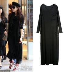 2014 spring  new arrival European style long casual black dress modal loose large size women dress party dresses free shipping  $20.90 http://www.aliexpress.com/store/product/2014-spring-new-arrival-European-style-long-casual-black-dress-modal-loose-large-size-women-dress/237979_1720794284.html