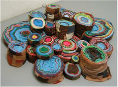 using fiber, paper and textiles as her medium of choice, chicago-based artist andrea myers explores the space between two and three dimensions Sculpture Art, Sculptures, Josephine, Textiles, Art Plastique, Artist Art, Installation Art, Textile Art, Creative Art