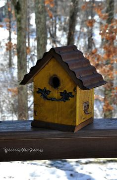 Hey, I found this really awesome Etsy listing at https://www.etsy.com/listing/173206296/rustic-birdhouse-the-cabin