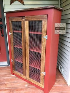 Woodworking For Mere Mortals Jelly Cabinet, Family Emergency, Pie Safe, One Bed, Weathered Wood, Woodworking Plans, Woodworking Projects, Rustic Farmhouse, Tall Cabinet Storage