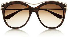 f8b5c818d4 Alexander McQueen Alexander Mcqueen Cat-Eye Acetate and Metal Sunglasses