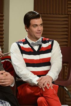 """Tina bumps her head and sees Puck (Mark Salling) as Blaine in the first hour of a special two-hour """"Props/Nationals"""" episode"""
