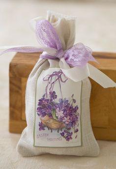 Easter Lavender Sachet / Vintage Easter Image by plumberryboutique