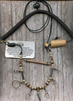 Fly Fishing Lanyard in Natural Earthtones by WiredAndStrungOut