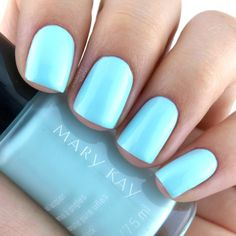 """Mary Kay Nail Lacquer in """"New Blue""""  A soft baby blue, New Blue is nicely pigmented."""
