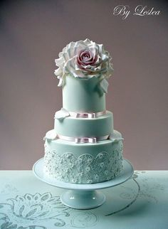 Beautiful Turquoise and Sky Blue Cakes