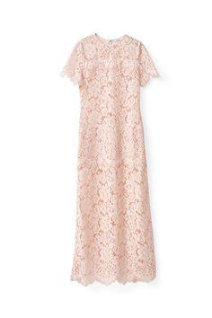 Duval Lace Maxi Dress, Cloud Pink