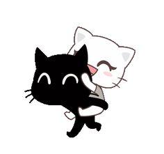 Cute Love Gif, Cute Love Pictures, Cute Love Couple, Gifs, Cute Anime Cat, Cute Cat Illustration, Family Stickers, Cute Cartoon Images, Line Sticker