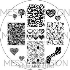 MESSY MANSION MM31 Nail Art Stamping Plate - Valentine's Day Messy Mansion http://www.amazon.com/dp/B00KW7FCAY/ref=cm_sw_r_pi_dp_YZDZtb1C7F6RS6R3