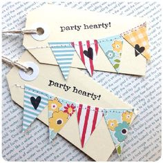 Stitched Bunting Gift Tags