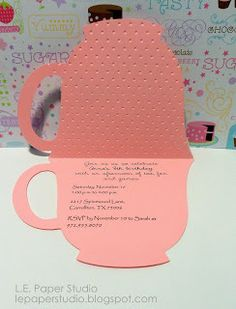 Teacup invite - Tuesday Print and Cut with free Cricut print and ...