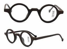 83396c104d4 38mm Vintage Small Round Eyeglass Frames Acetate Rx-able Spectacles Glasses   eyeglasses Eye Frames