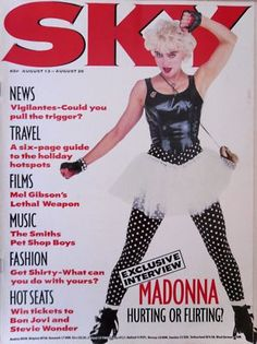 Madonna Sky Magazine Aug '87 V RARE | http://stores.ebay.com/madonnamaniamemorabilia