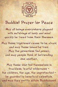 Buddhist Prayer for Peace