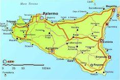 Distancias desde Palermo - Sicilia