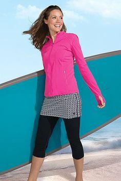 Skirted Swim Capri: Sun Protective Clothing - Coolibar