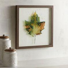 Framed Maple Leaf Art | Pier 1 Imports