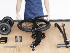 Halfbike | The compact and light standing bike, anywhere with you!