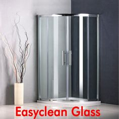 Tall Quadrant Shower Enclosure Corner Cubicle Easyclean Glass Door Stone Tray SI
