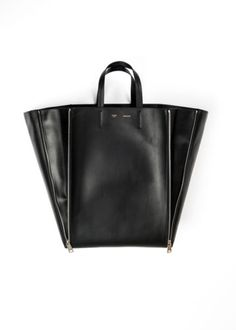 5b9a034782 100-authentic-BNWT-CELINE-leather-vertical-gusset-cabas-silver-black-tote- bag