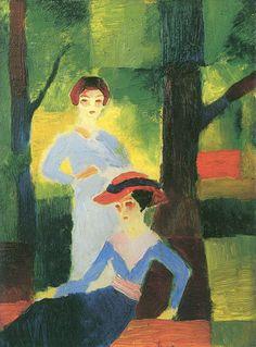 Zwei Mädchen im Walde