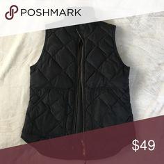 Jcrew black puffer vest Lightly worn, like new! J. Crew Jackets & Coats Vests