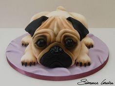 best ideas about Pug Cake Pug Cake, Bulldog Cake, Fancy Cakes, Cute Cakes, Pug Birthday Cake, Cake Designs For Kids, Extreme Cakes, Cupcakes Decorados, Carlin